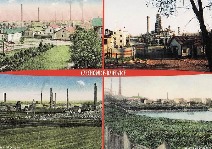 Postcard of Vaccum oil company 1