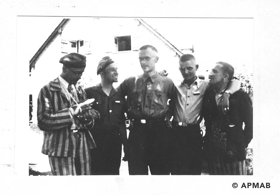 Prisoners from Brünn. Photo made after Bergen liberation. APMAB 19150