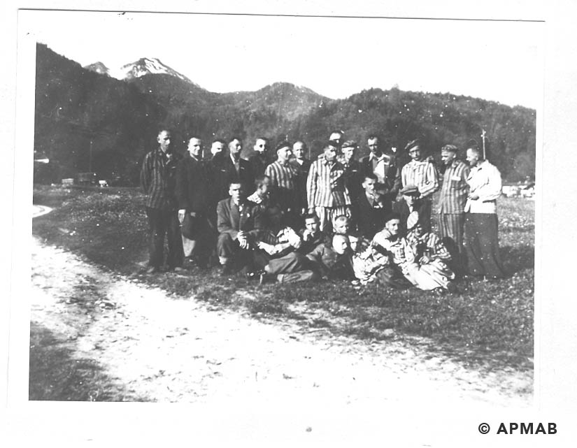 Prisoners from Brünn. Photo made after Bergen liberation. APMAB 19151