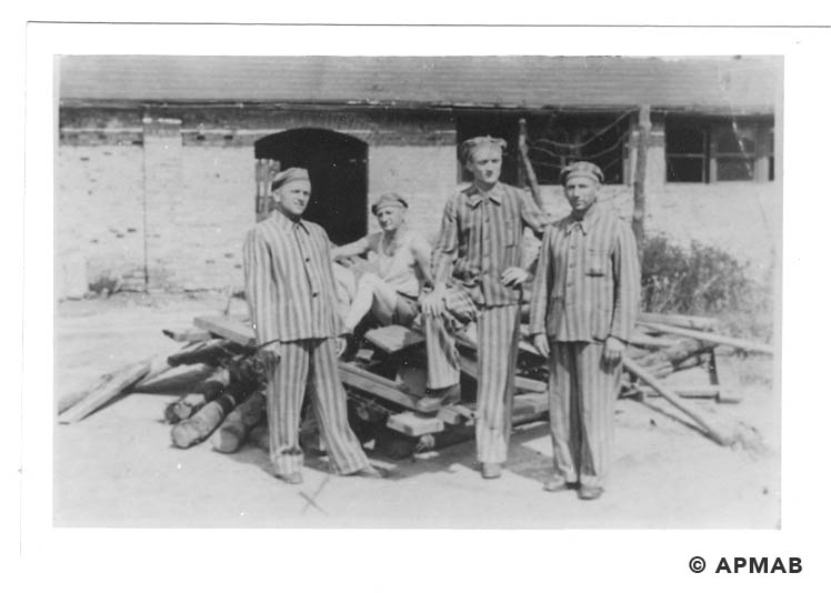 Prisoners from Brünn. Photo made after Bergen liberation. APMAB 20795 2