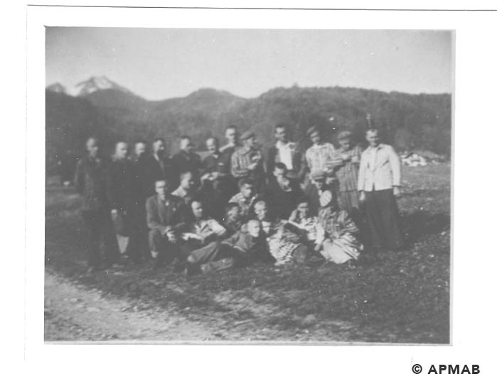 Prisoners from Brünn. Photo made after Bergen liberation. APMAB 20795 3