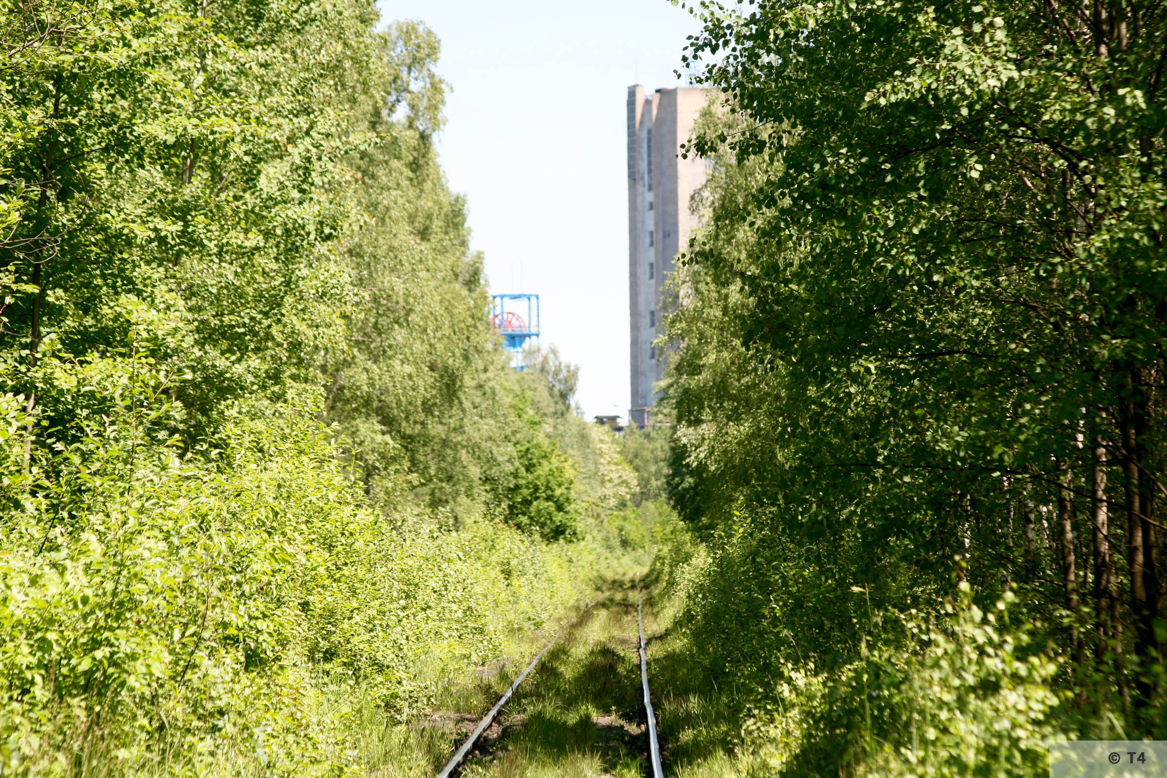 Rail track to former Dachsgrube mine. 2008 T4 7828
