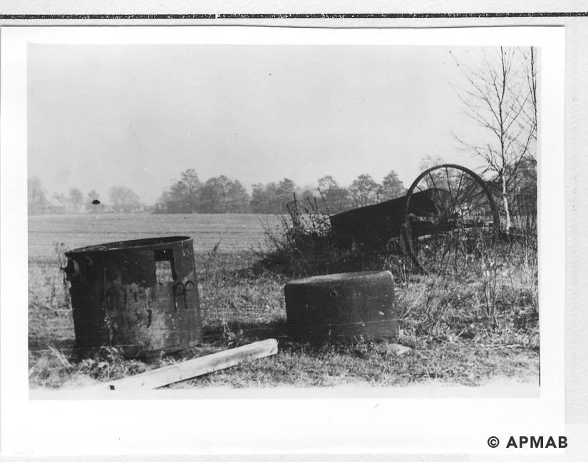 Remains of farm equipment from sub camp. 1955 APMAB 22273 1