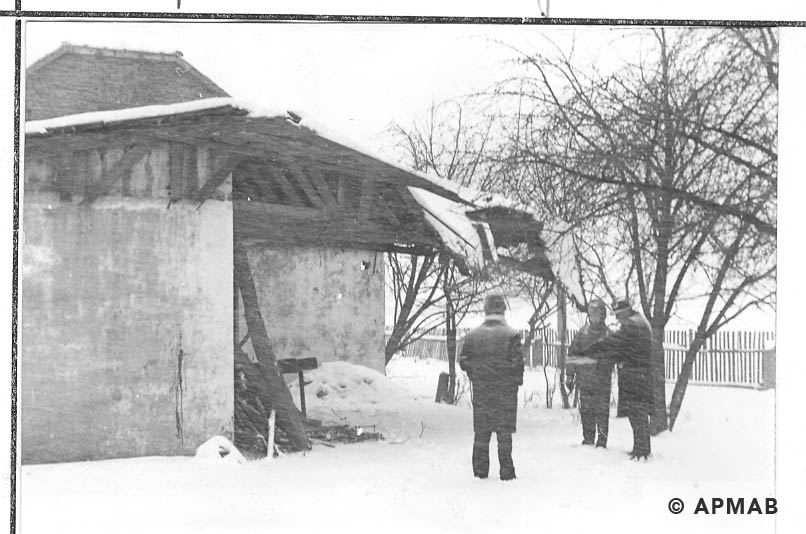 Remains of the camp kitchen in Camp IV in Monowice. 1968 APMAB 13966