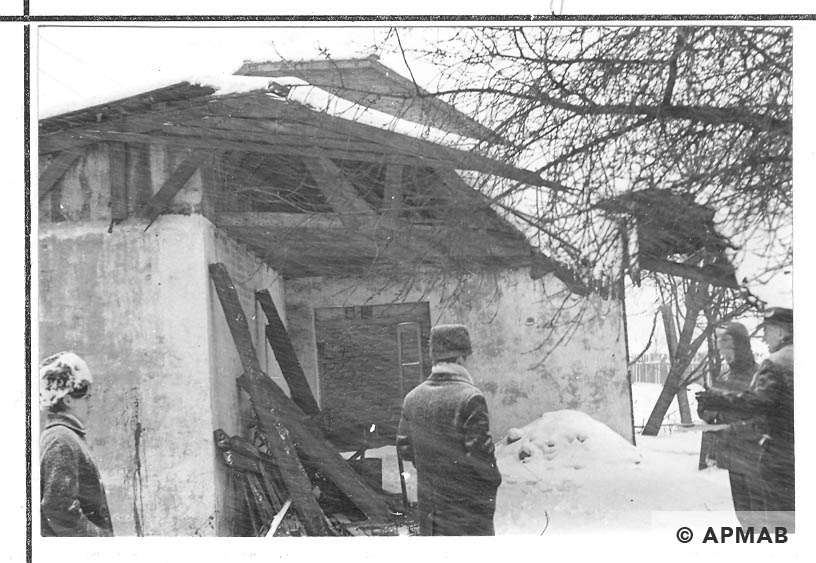 Remains of the former camp kitchen. 1968 APMAB 13964