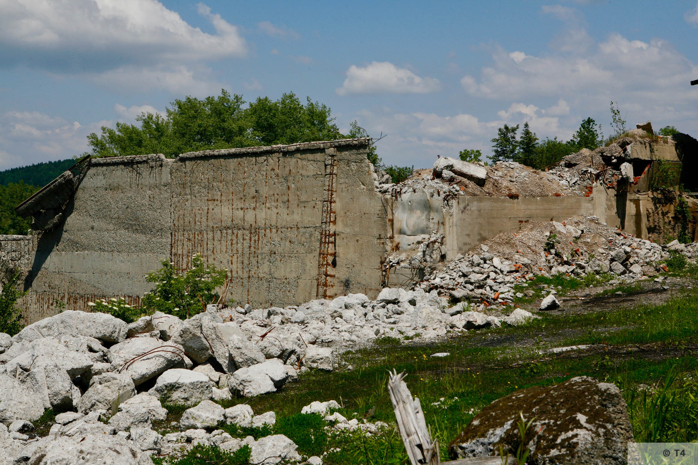 Remnants of Goleszow cement plant. 2006 T4 6572
