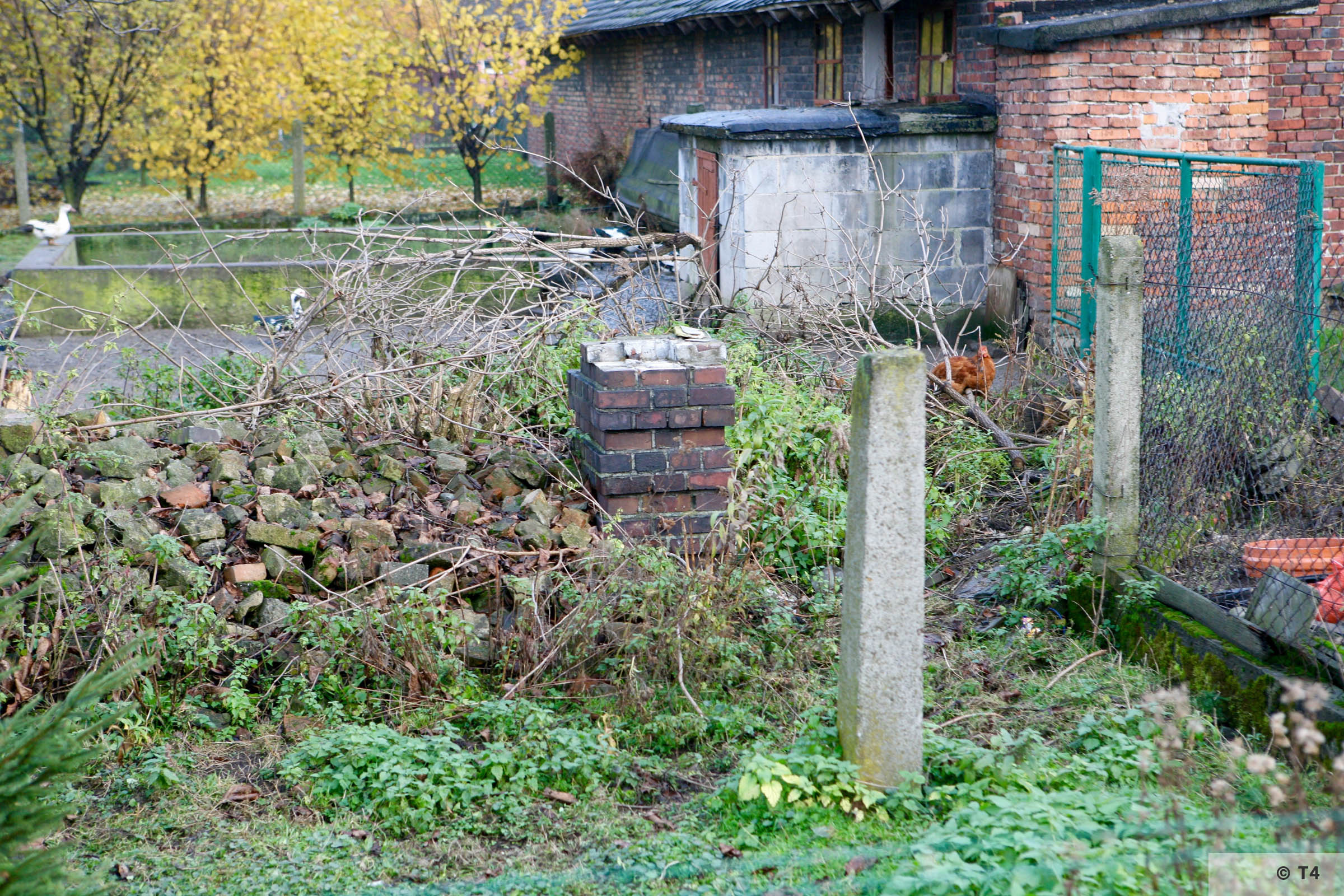Remnants of a sub camp gate post. 2008 T4 3186