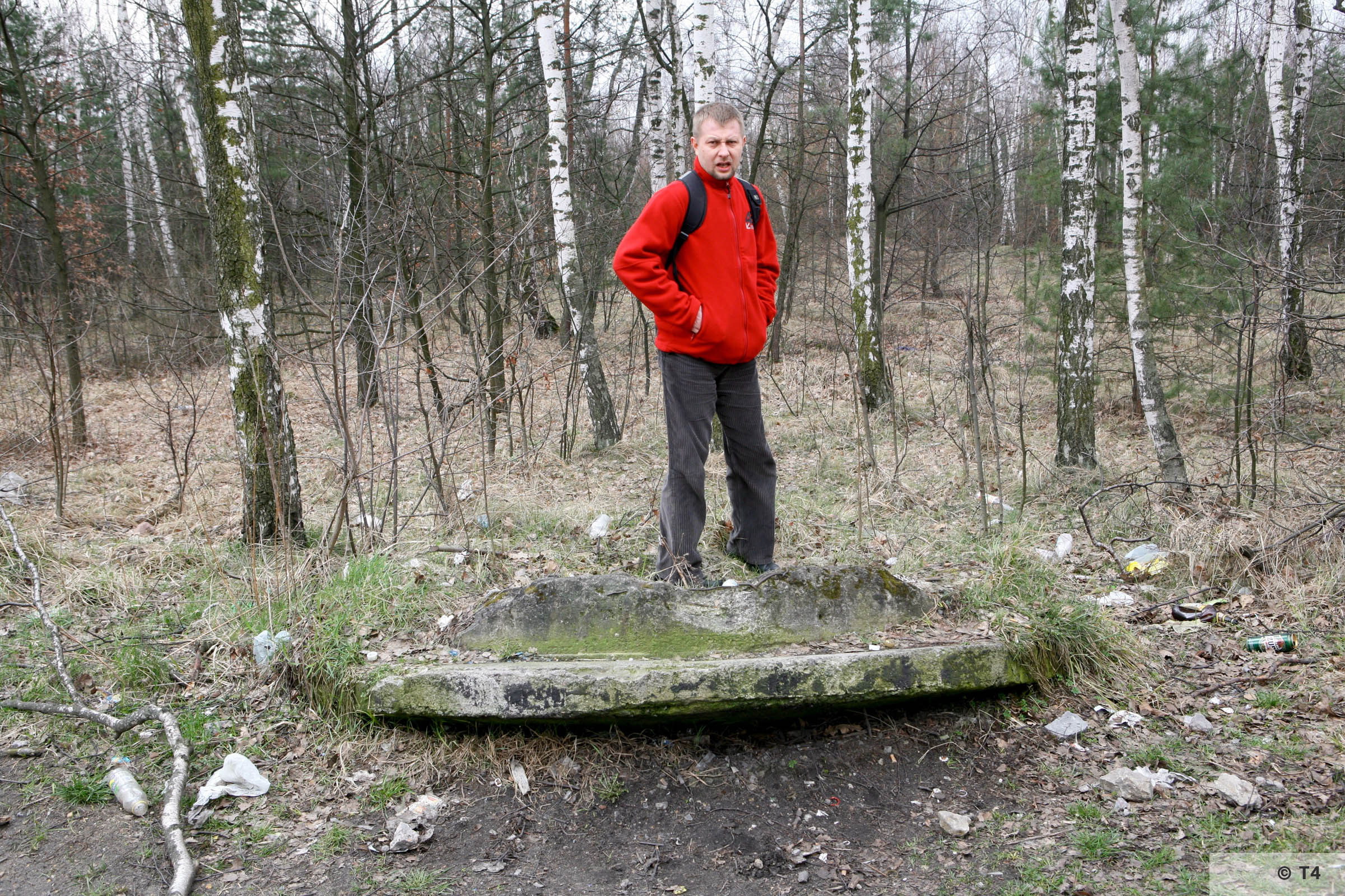 Remnants of concrete guard tower from Jaworzno COP. 2007 T4 6119