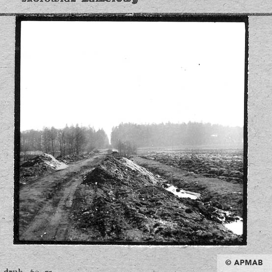 Remnants of narrow guage railway on the right fragment of camp area. 1959 APMAB 4398