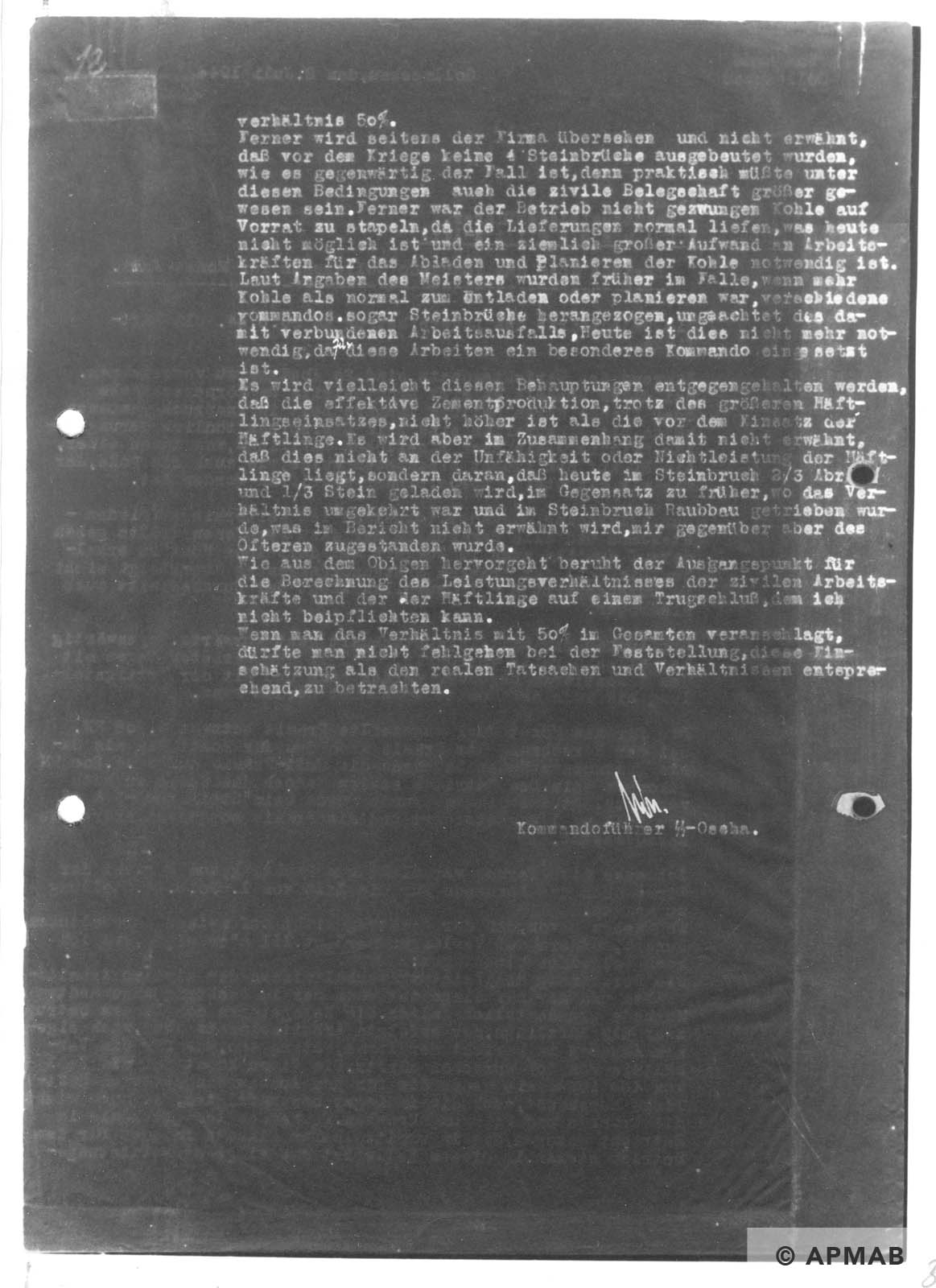 Report on Golleschau sub camp June 1944 APMAB nr inw. 30523 str. 32