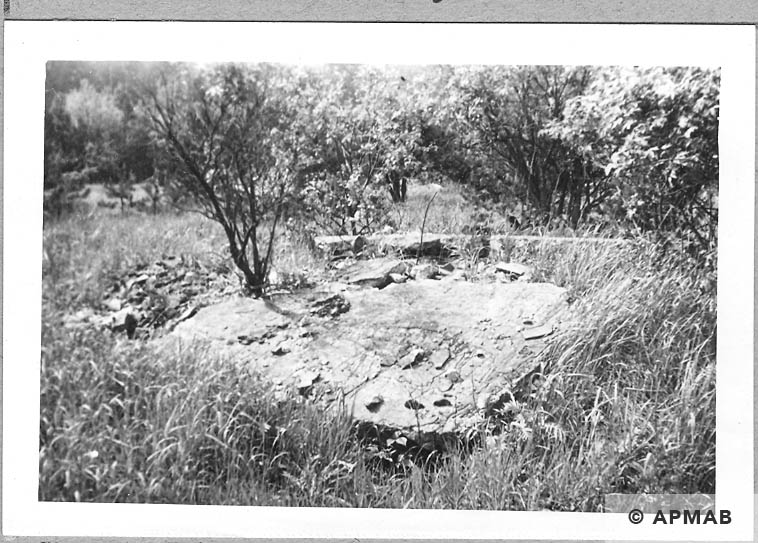 Ruins of a barrack. 1965 APMAB 8780