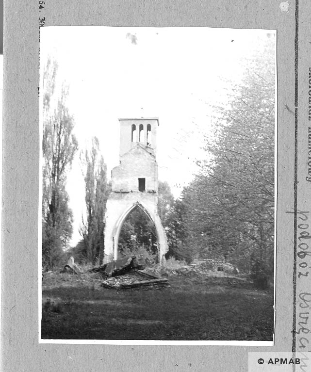 Ruins of crematorium on ul Kozielska. 1962 APMAB 931
