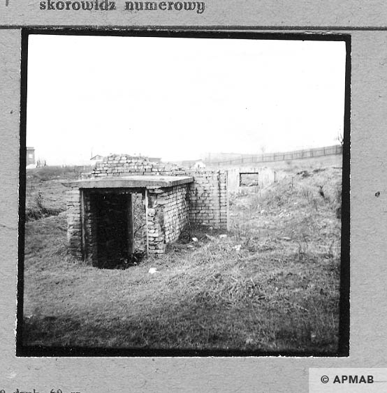 Ruins of the sub camp. 1959 APMAB 4415