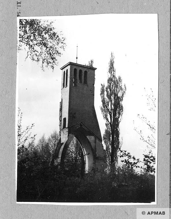 Ruins of crematorium Gliwice on ul Kozielska. 1962 APMAB 930