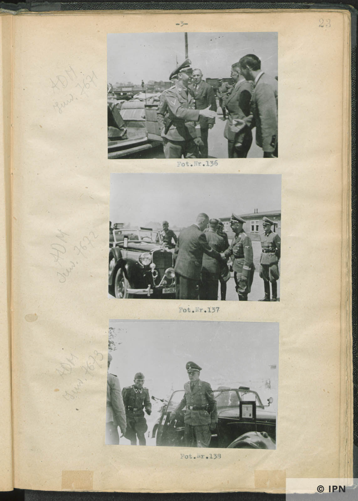 SS Reichsführer Heinrich Himmler visits IG Farben plant at Monowice. July 17 to 18 1942. IPN GK 196 97 0028