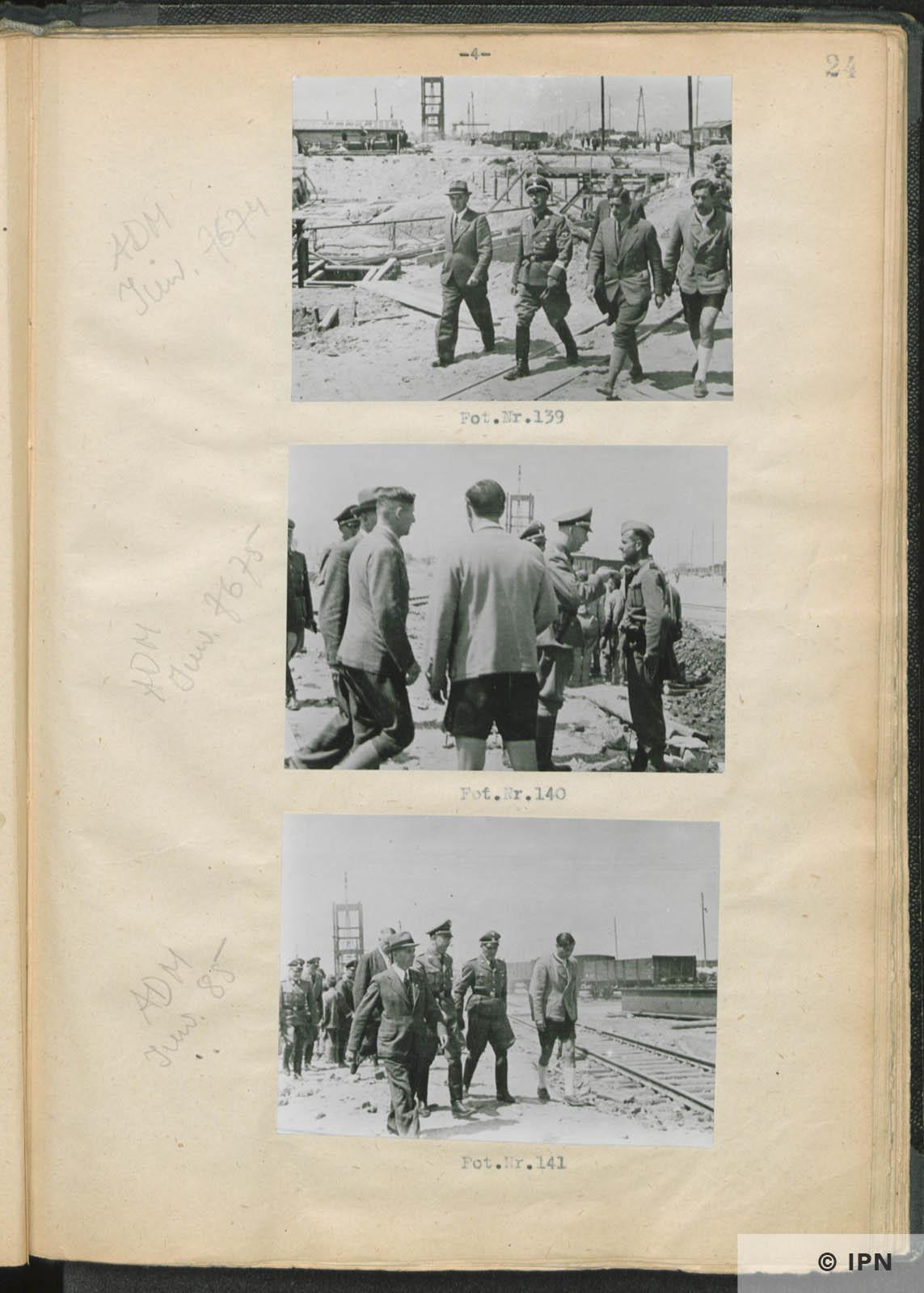 SS Reichsführer Heinrich Himmler visits IG Farben plant at Monowitz. July 17 to 18 1942. IPN GK 196 97 0029