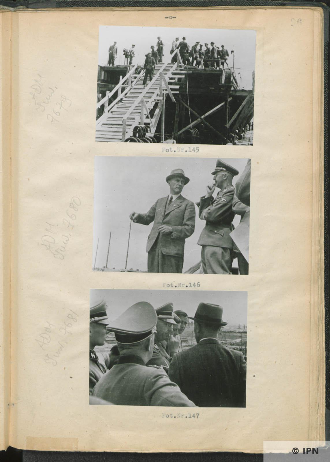 SS Reichsführer Heinrich Himmler visits IG Farben plant at Monowitz. July 17 to 18 1942. IPN GK 196 97 0031