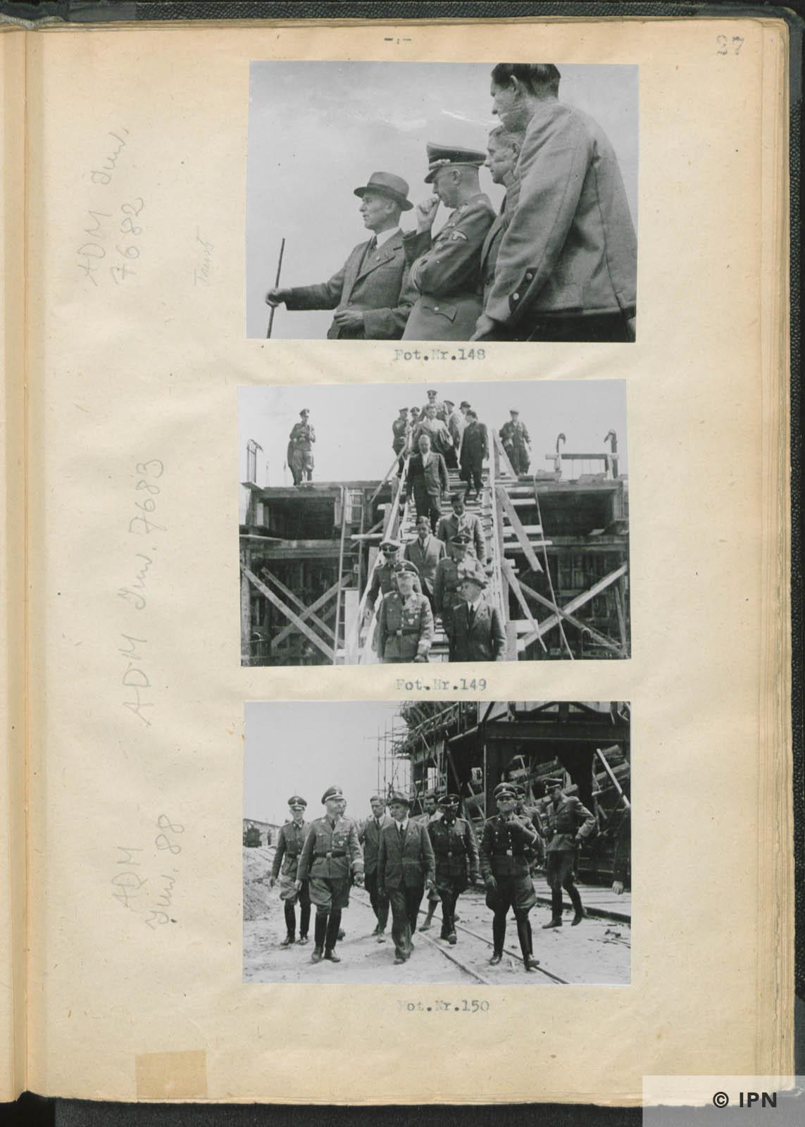 SS Reichsführer Heinrich Himmler visits IG Farben plant at Monowitz. July 17 to 18 1942. IPN GK 196 97 0032