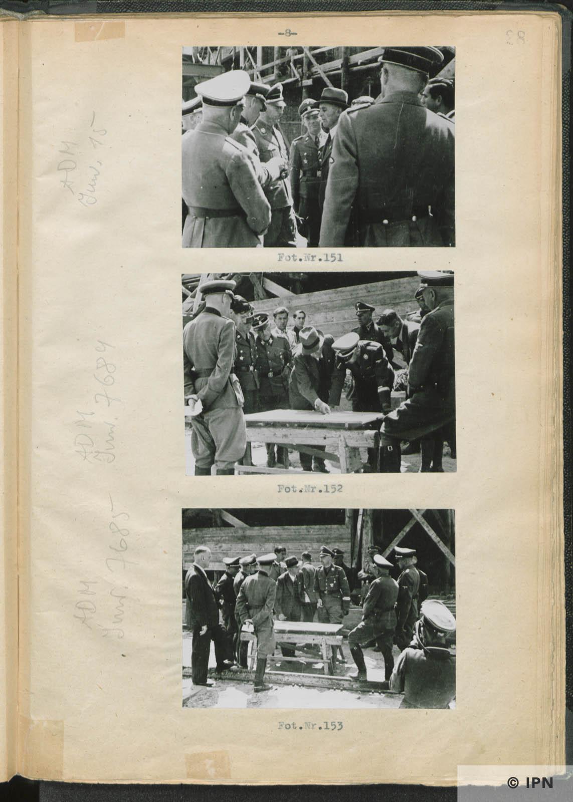SS Reichsführer Heinrich Himmler visits IG Farben plant at Monowitz. July 17 to 18 1942. IPN GK 196 97 0033