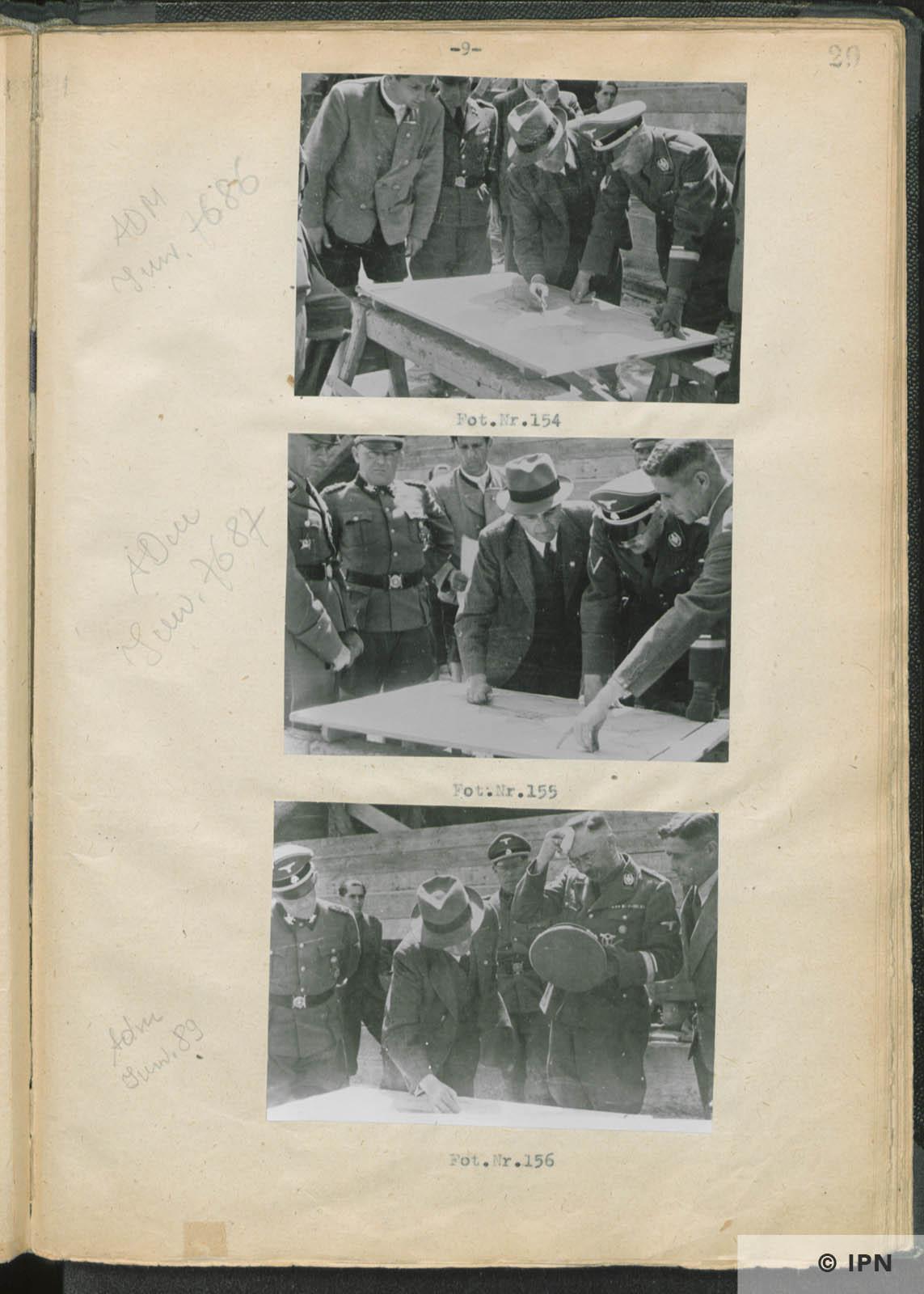 SS Reichsführer Heinrich Himmler visits IG Farben plant at Monowitz. July 17 to 18 1942. IPN GK 196 97 0034