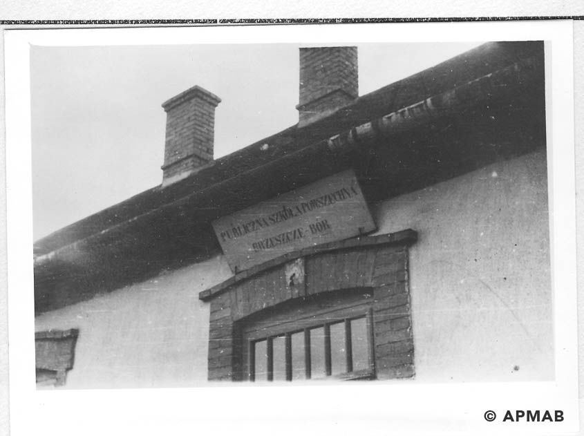 School entrance for prisoners of a penal company. 1955 APMAB 22274 5