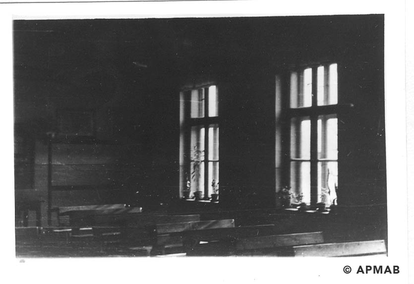 School rooms where prisoners from the penal company lived. 1955 APMAB 22274 4