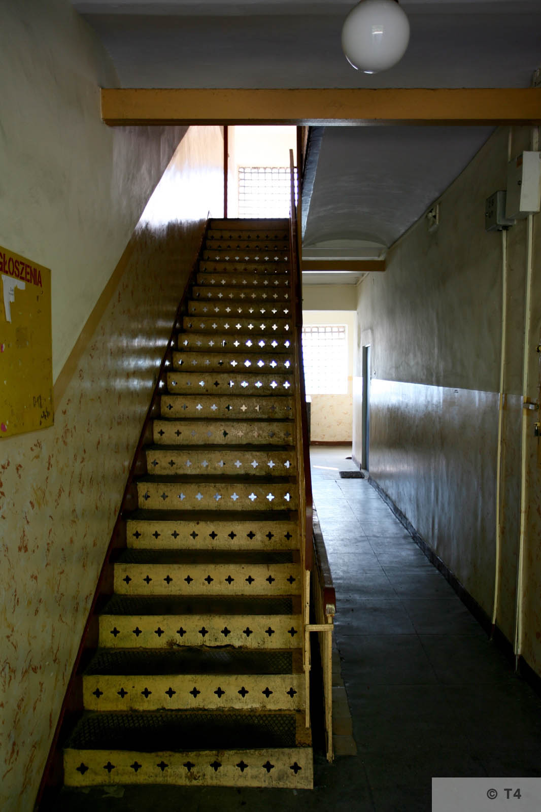 Staircase in the interior of the administrative and prisoner accomodation buiilding. 2006 T4 7948