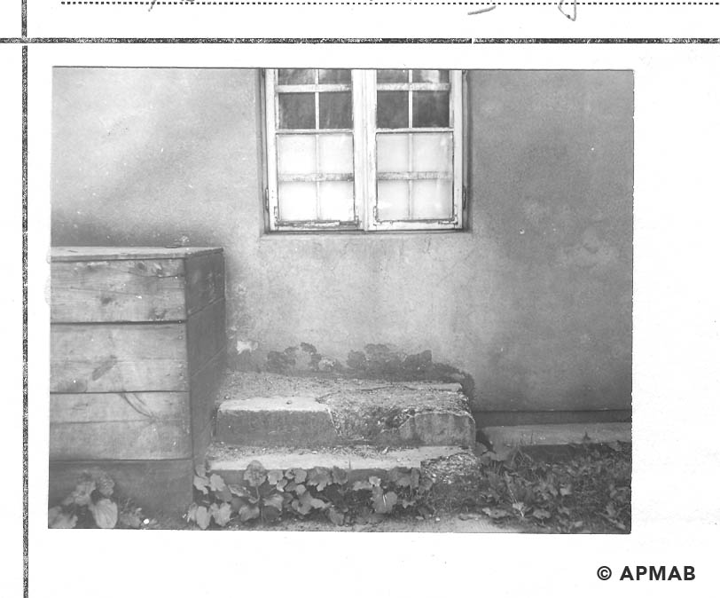 Stairs of annexe in the barrack No 1. 1968 APMAB 14337