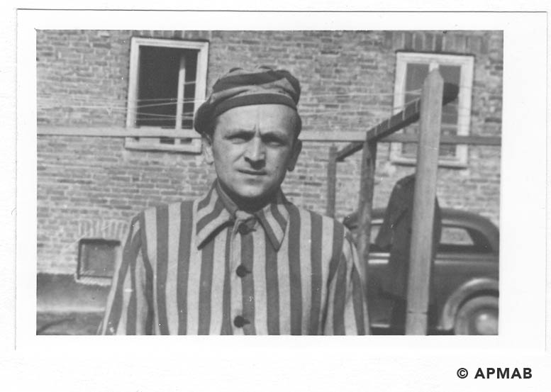 Stefan Gregor No 136109 former prisoner of Brünn. Photo made after Bergen liberation. APMAB 20795 4