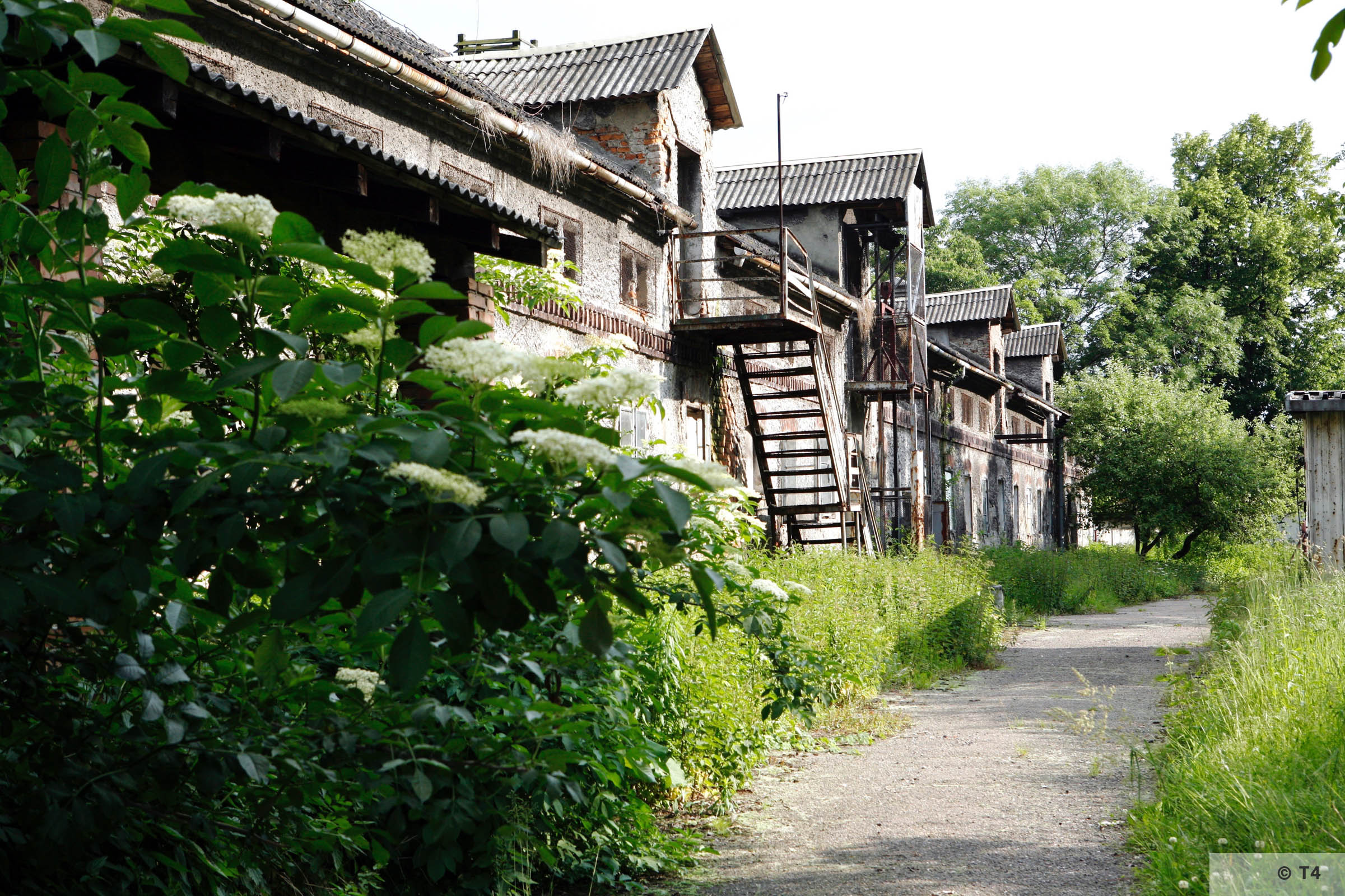 Stone stable building where prisoners lived inside the former sub camp. 2006 T4 6735