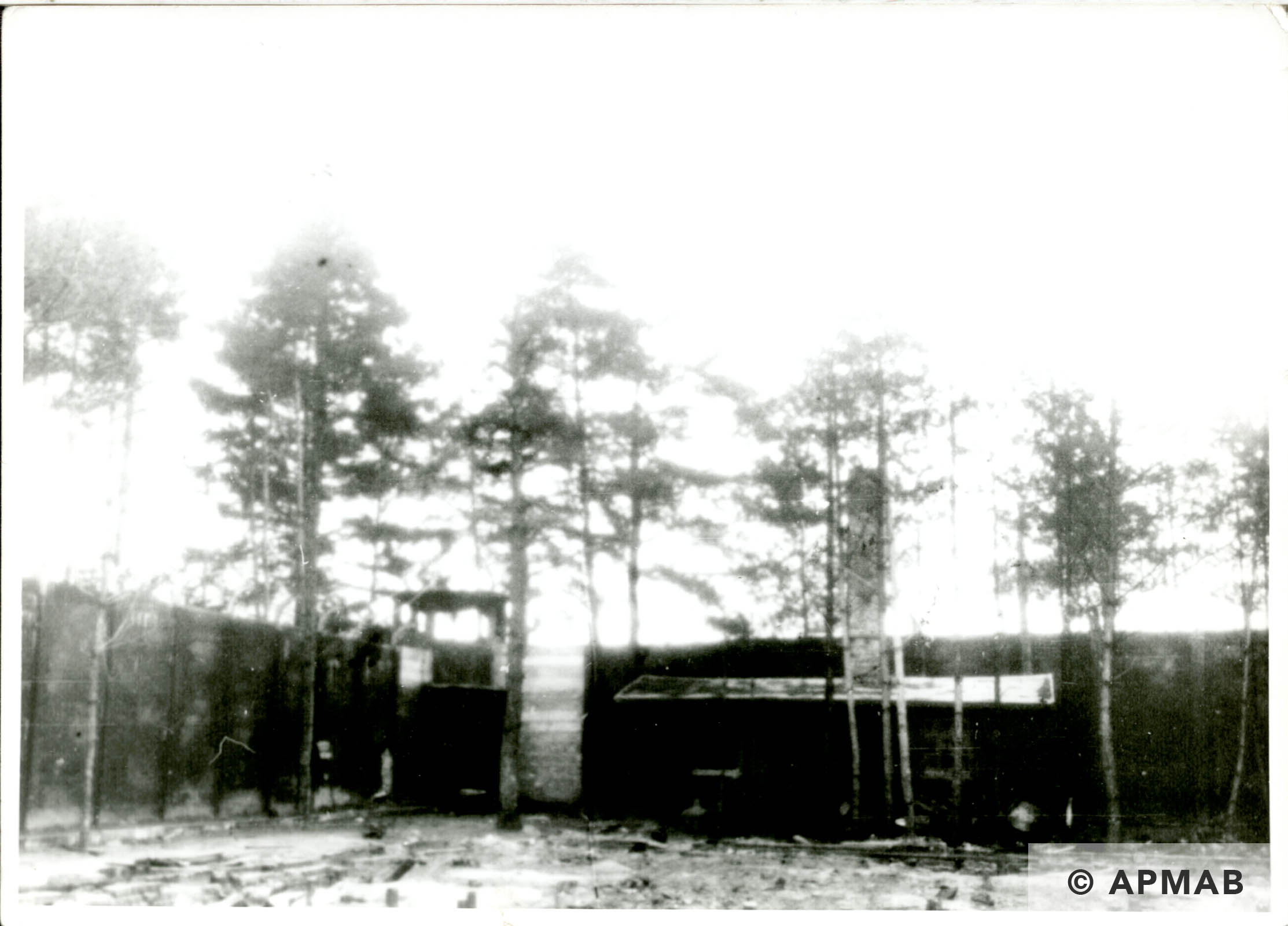 Sub camp interior. Probably 1946 APMAB 6292