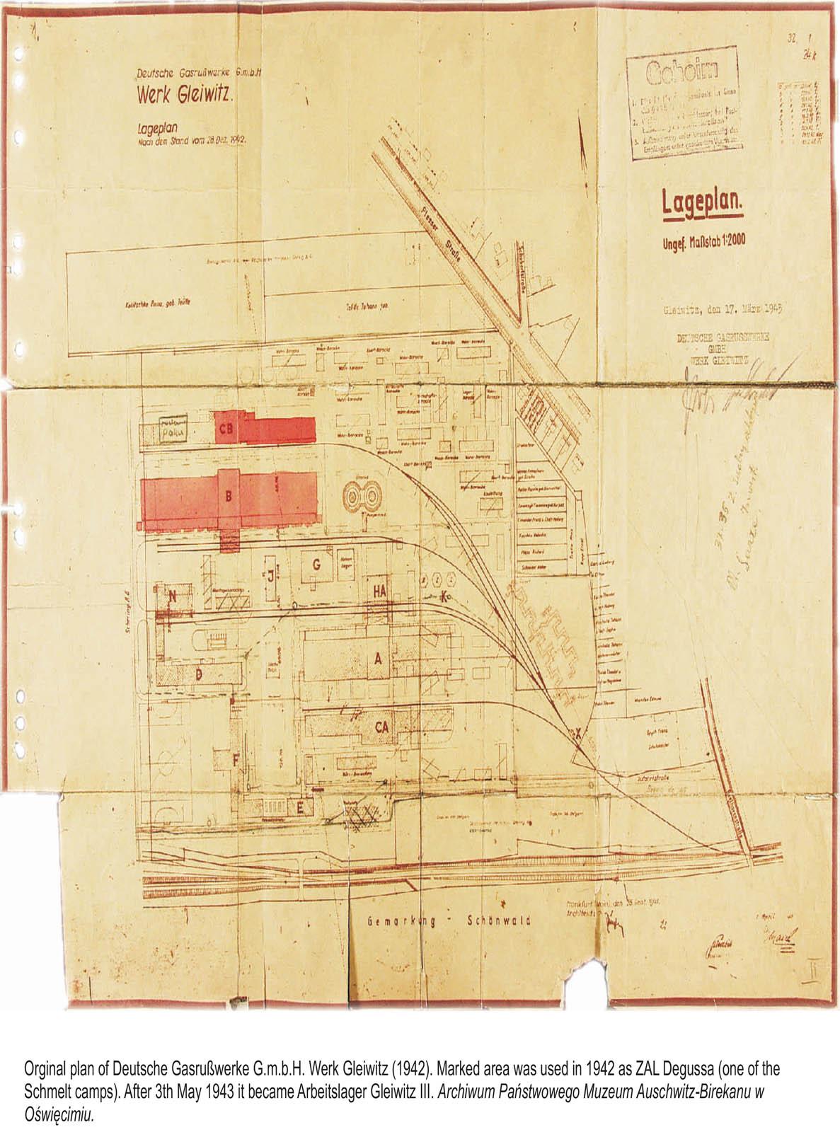 Techincal drawing of Deutsche Garusswerke