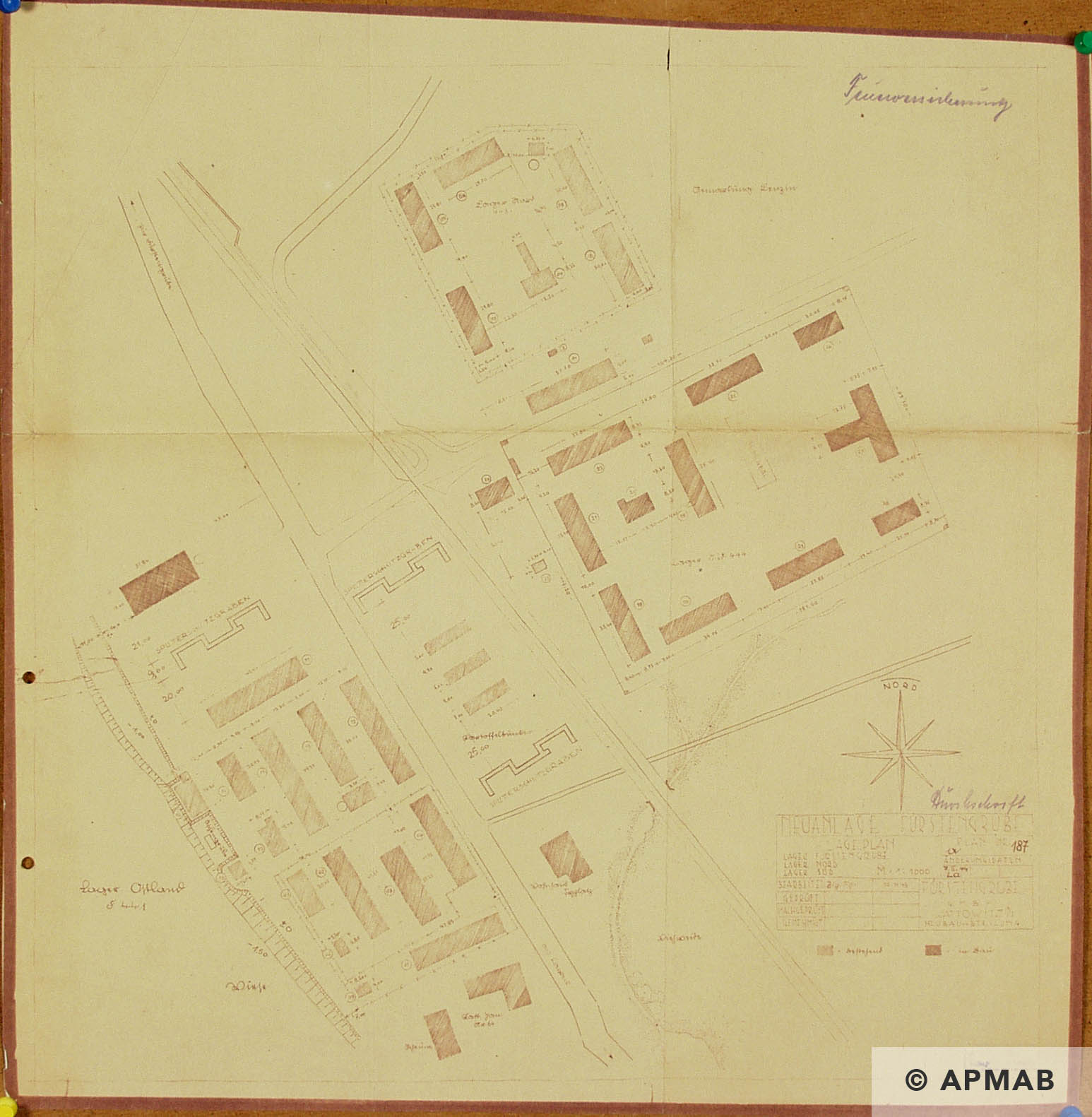 Technical drawing of camps in Wesola. APMAB _1