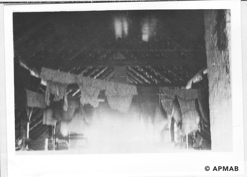 The attic of the school, where the massacre of prisoners took place.1955 APMAB 22274 3