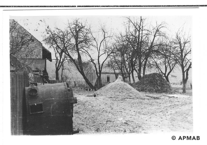 The place where a barrack stood.1955 APMAB 22274 2