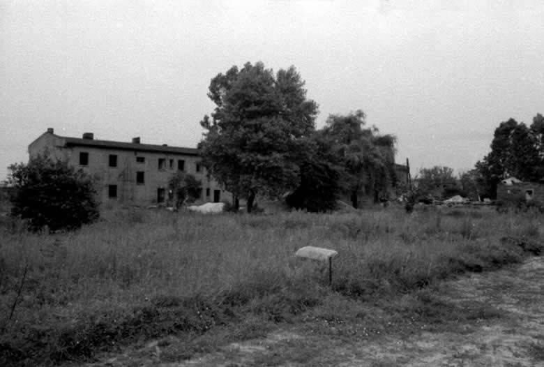 This picture is of a large brick building in Lager Sud. This where Sam slept. This photograph was taken in the mid 1960s on the day of its demolition.