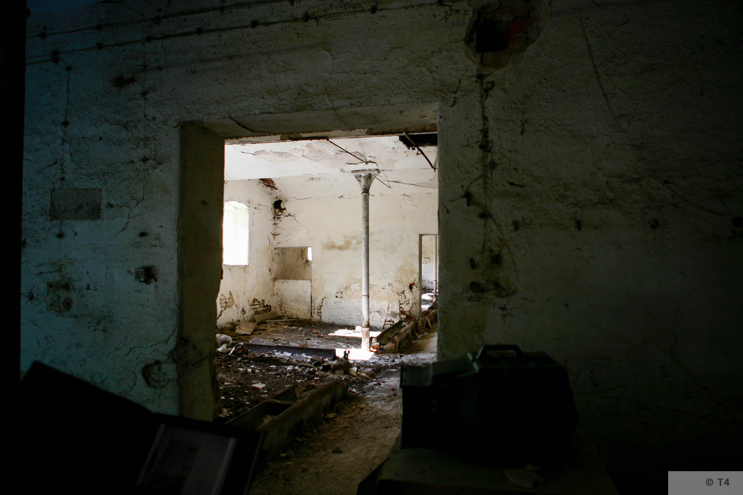 View from inside the stable block where prisoners lived. 2007 T4 9325