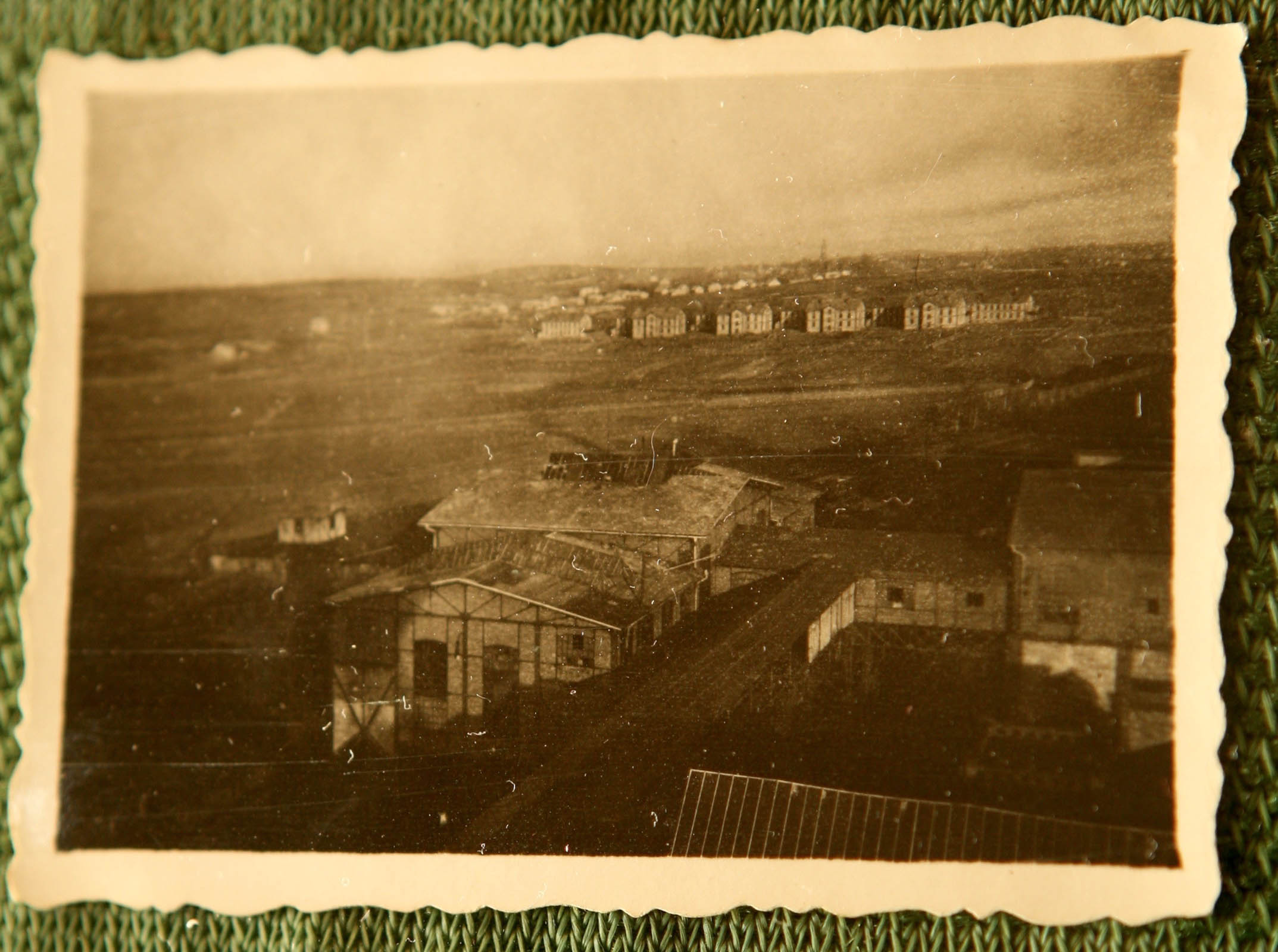 View from the Janina mine to the Obierzowa colony pre war. 3529