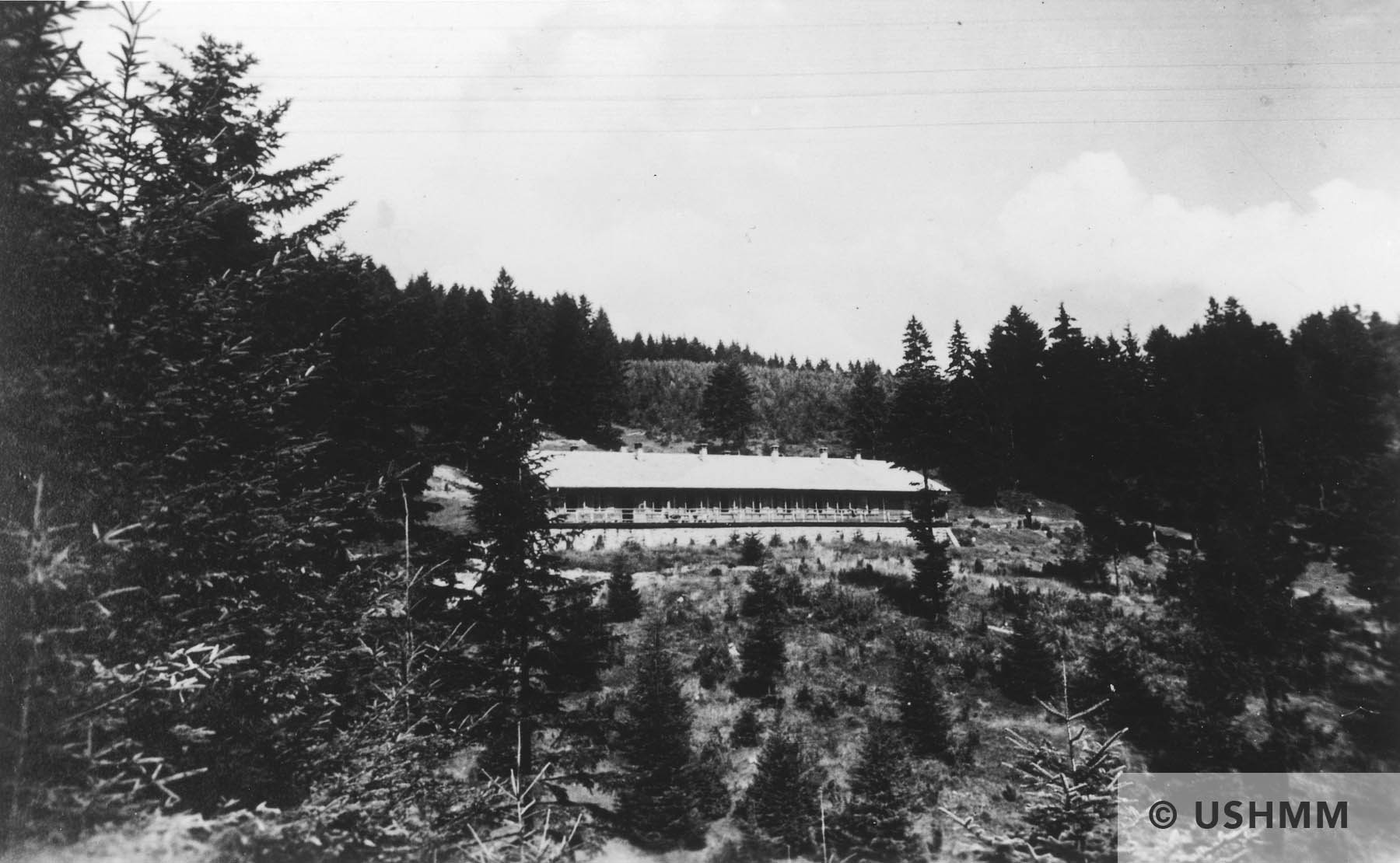 View of Solahütte, the SS retreat outside of Auschwitz. USHMM 34750