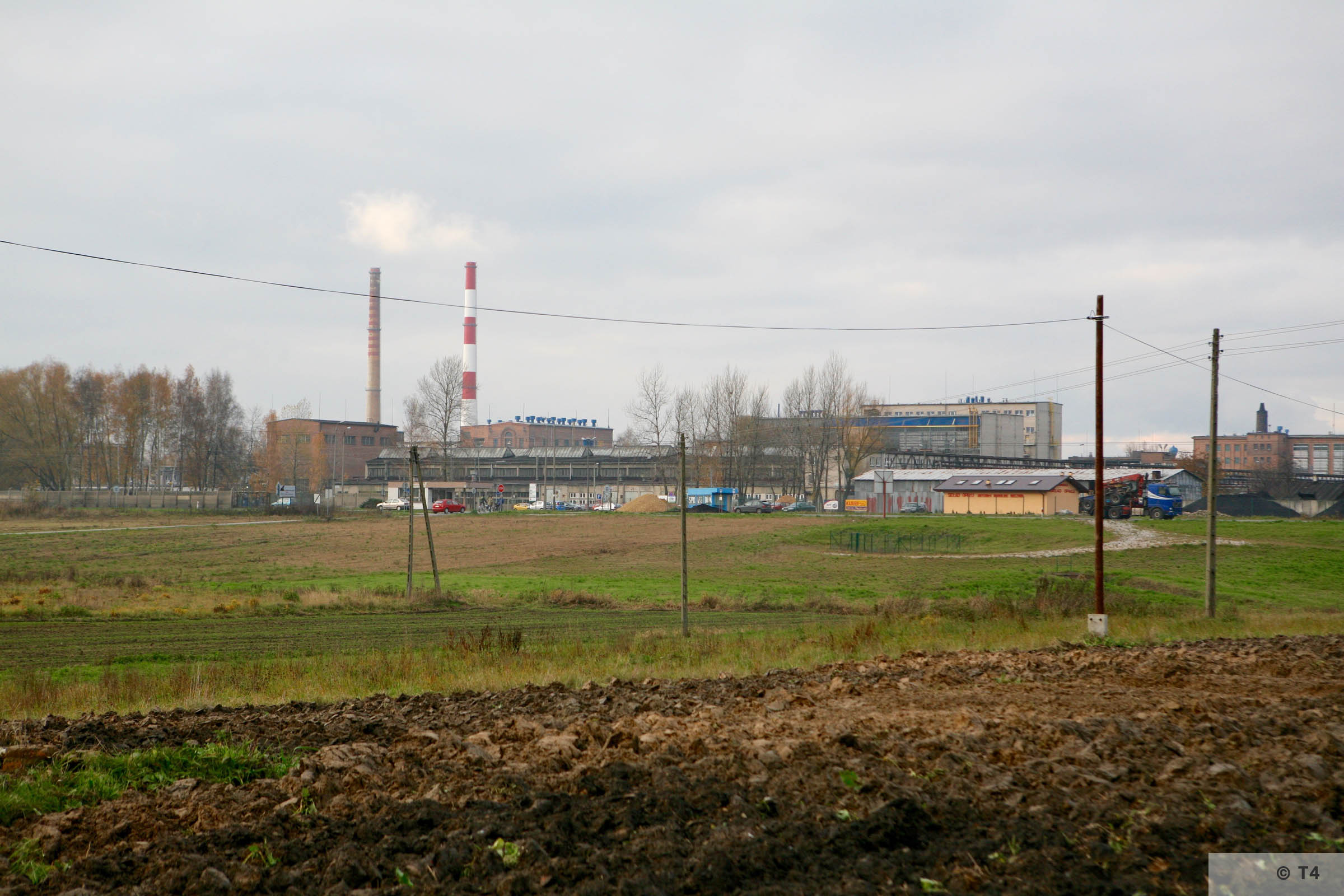 View of former IG Farben Buna plant from main entrance to Monowitz camp. 2008 T4 3369