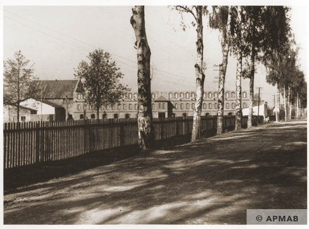 View of the factory from the road. 1944 APMAB 95275