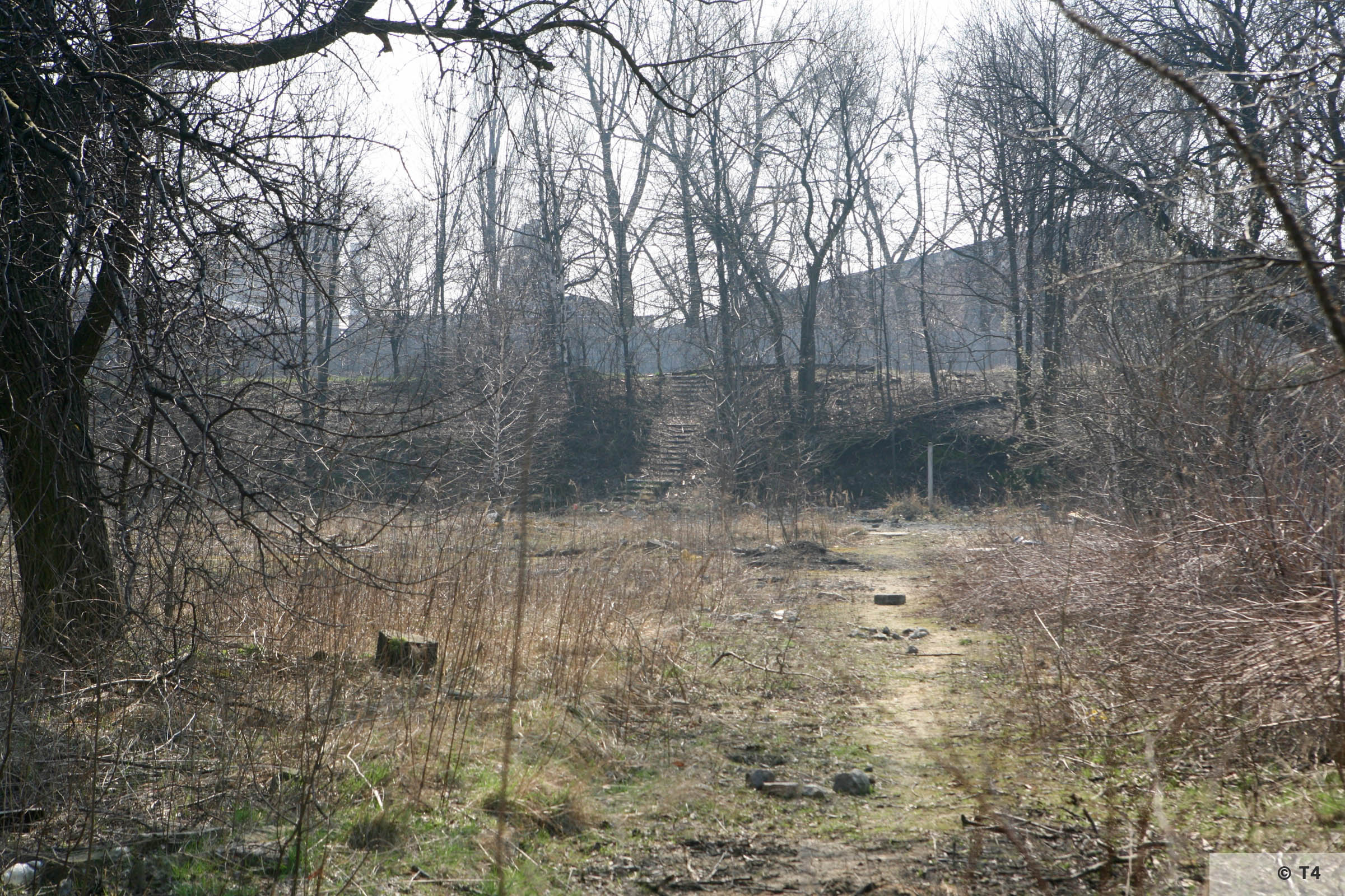 View to steel works from area of sub camp and labour camp. 2007 T4 6769