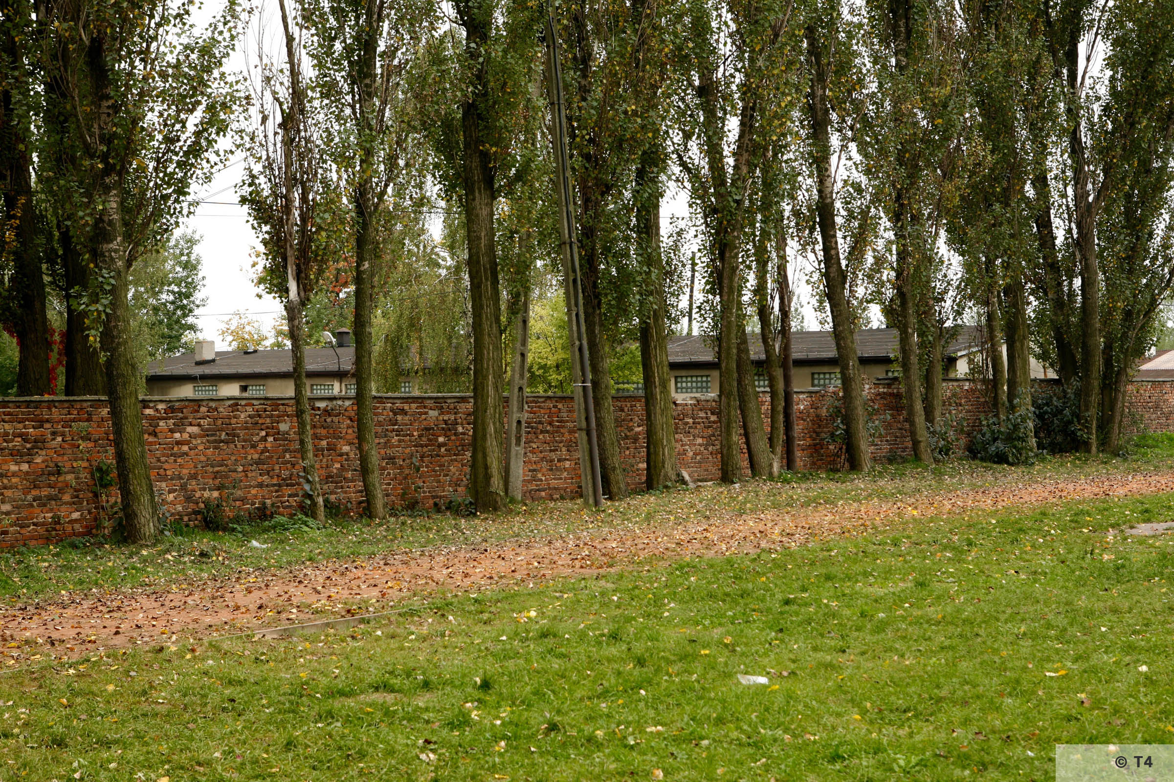 Wall surrounding the area of the former sub camp Lager Günther III. 2006 T4 2976