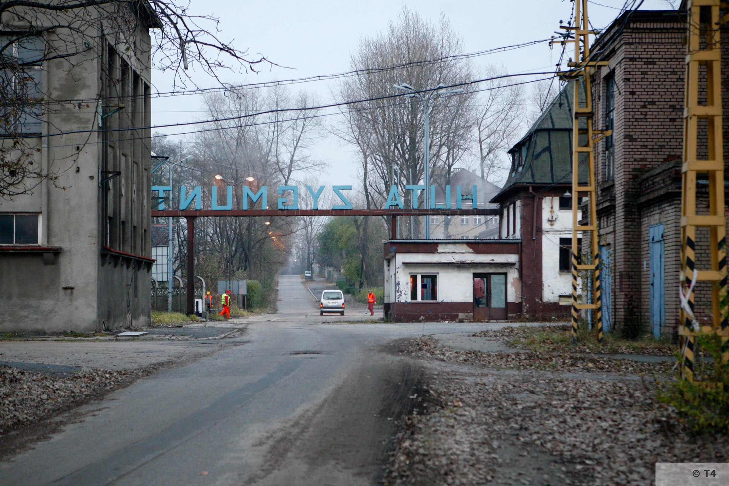 Zygmunt steel works main entrance. 2006 T4 4870