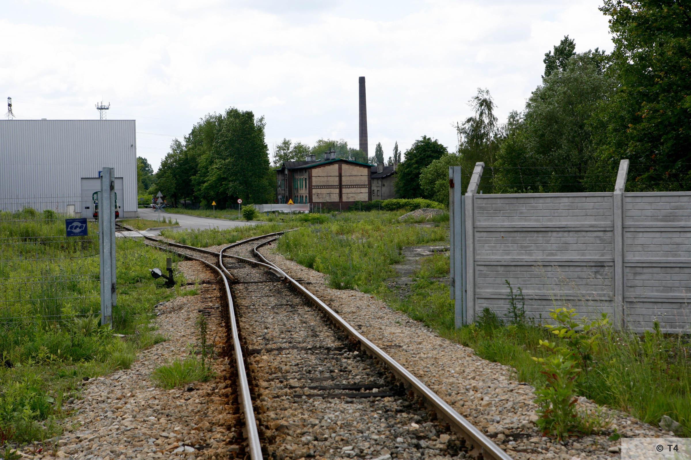Zygmunt steel works. Rail tracks. 2006 T4 6236